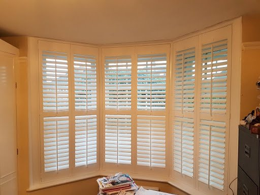 angle bay window shutters