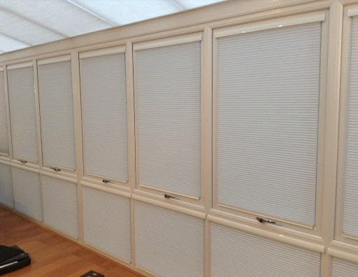 conservatory blinds closed