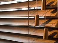 wood blinds with no slat holes