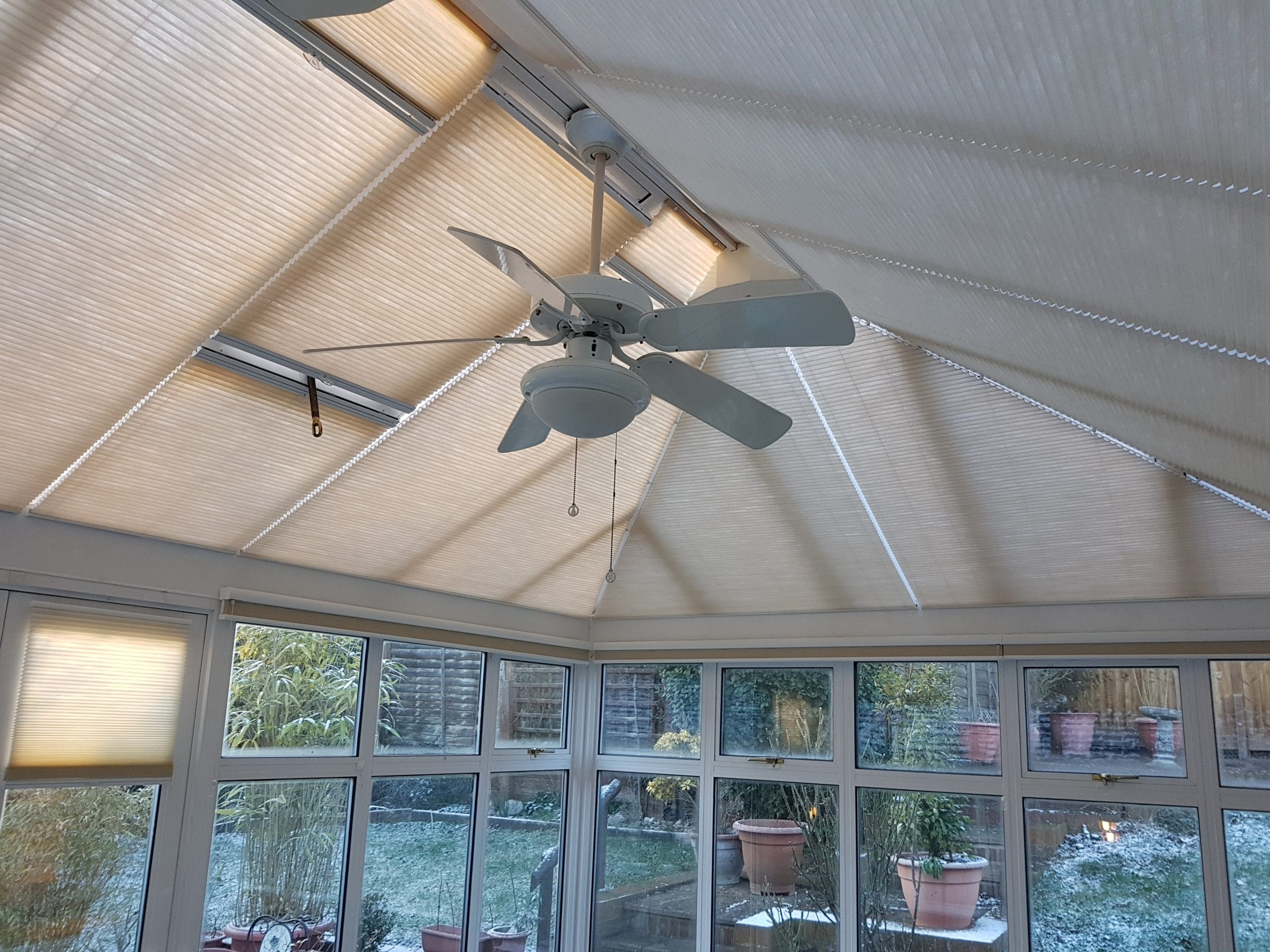 luxaflex duette honeycombe roof blinds