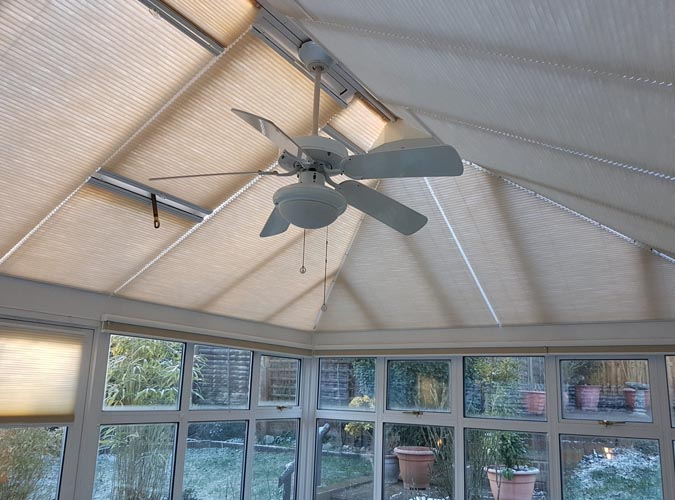 Luxaflex Duette roof blinds for conservatories